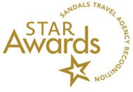 Star Awards for Sandals travel agency recognition